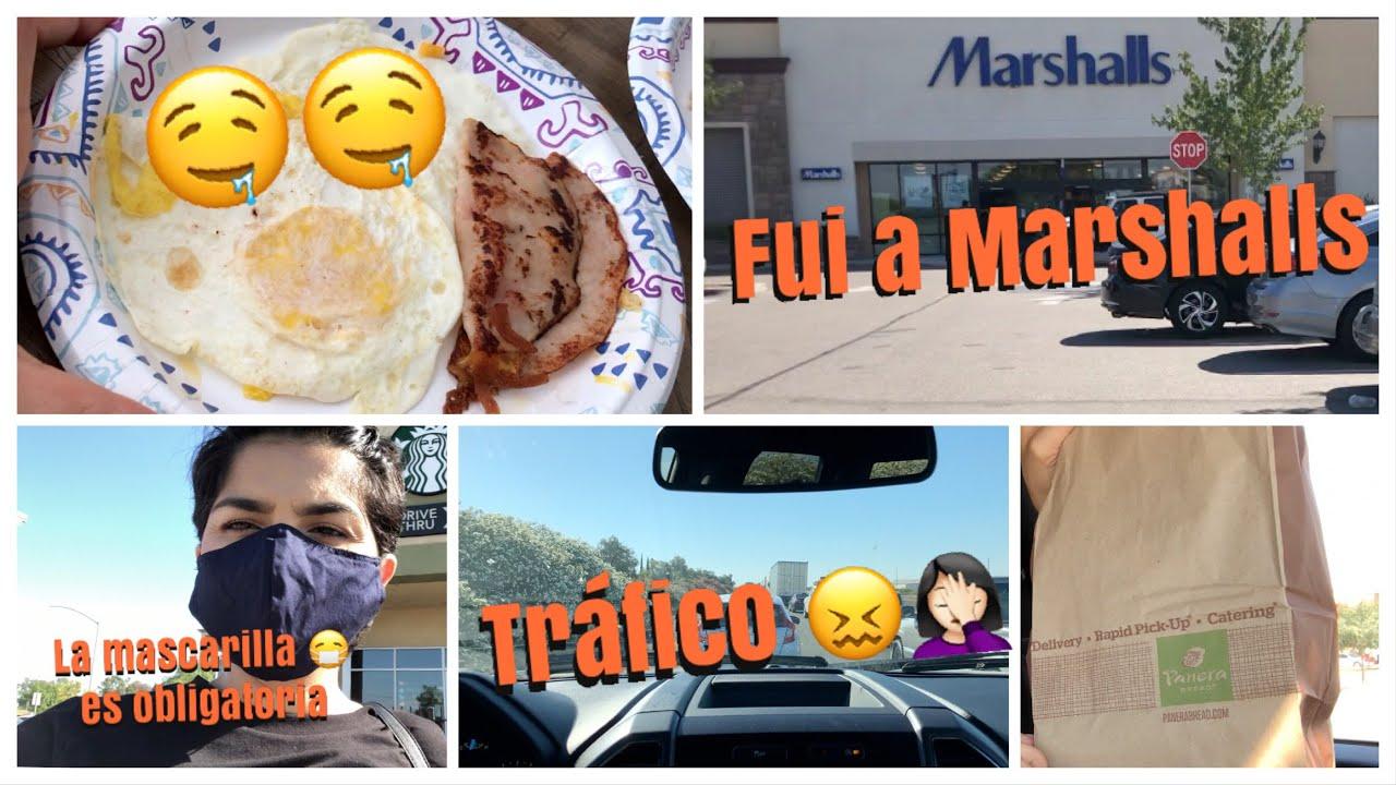VLOG#8 UN DIA CONMIGO FUI A MARSHALLS + ME DIERON MI CAFE FRIO 😩NO ME GUSTA MANEJAR CON TRAFICO
