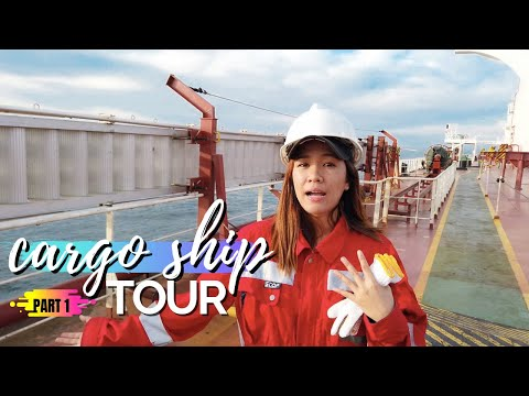 SEAWOMAN'S TOUR INSIDE A CARGO SHIP - PART 1 | Jy's Journal