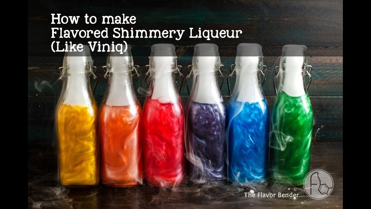 How to make Shimmery Liqueur (like Viniq)