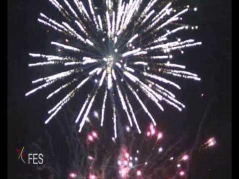 Cielo Iluminado Fuegos Artificiales Pirotecnicos Fireworks