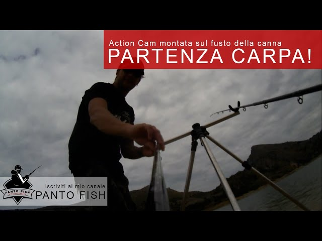 Partenza carpa in diretta al lago di Caccamo - Method Feeder