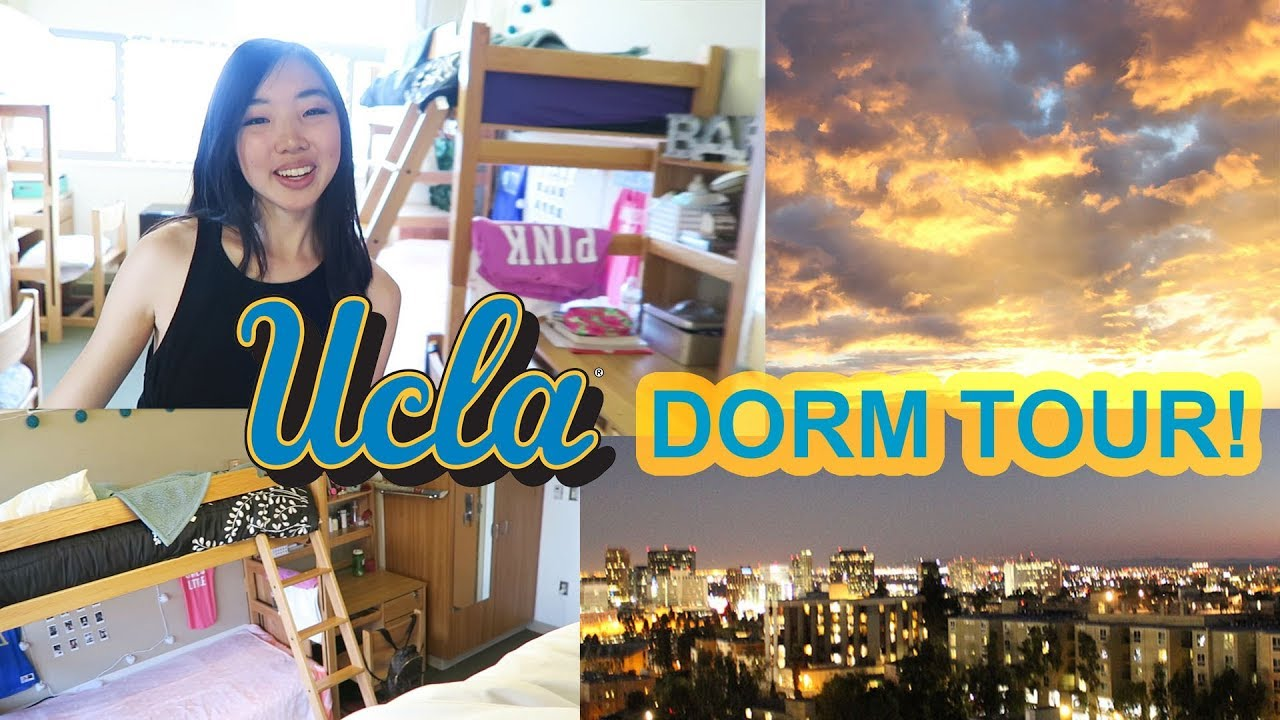 5 MINUTE* UCLA Dorm Tour 2017 | Deluxe Triple Hall, communal