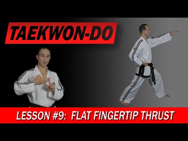 Flat Fingertip Thrust - Taekwon-Do Lesson #9