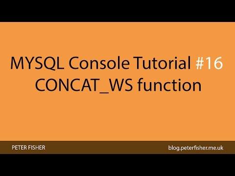 MYSQL Console Tutorial #16 Using The CONCAT_WS Function In MYSQL