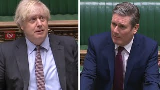 video: Sir Keir Starmer admits mistake after heated PMQs exchange with Boris Johnson