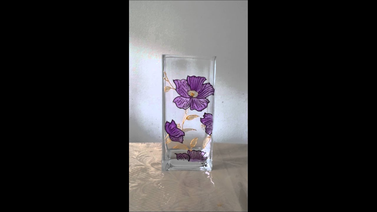 Beautiful Glass Vase Hand Painted By Iq Youtube