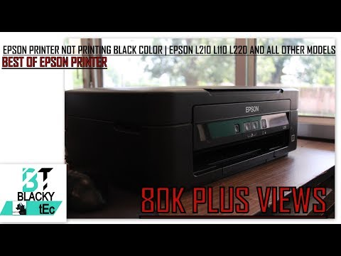 Epson Printer Not Printing Black Color | Epson L210 L110 L220 And All Other  Series
