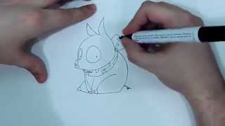 Como dibujar a Ryoga cerdito (Ranma 1/2)