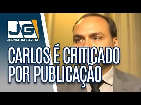 Carlos Bolsonaro é criticado por publicação sobre democracia