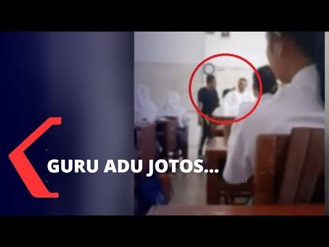 Viral 2 Guru Berkelahi Depan Kelas di Medan