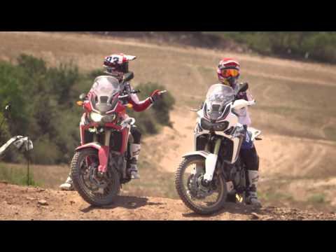 M. Marquez e J. Barreda in sella alla nuova CRF1000L Africa Twin