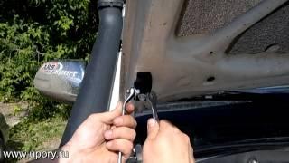 Установка амортизаторов (упоров) капота для Toyota Hilux от upory.ru