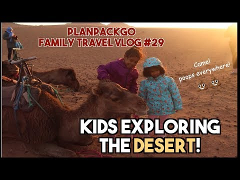 PLANPACKGO FAMILY TRAVEL VLOG #29 -  Kids Exploring the Desert!