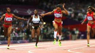 Allyson Felix of US Wins Womens 200 Meter Gold at London Olympics 2012