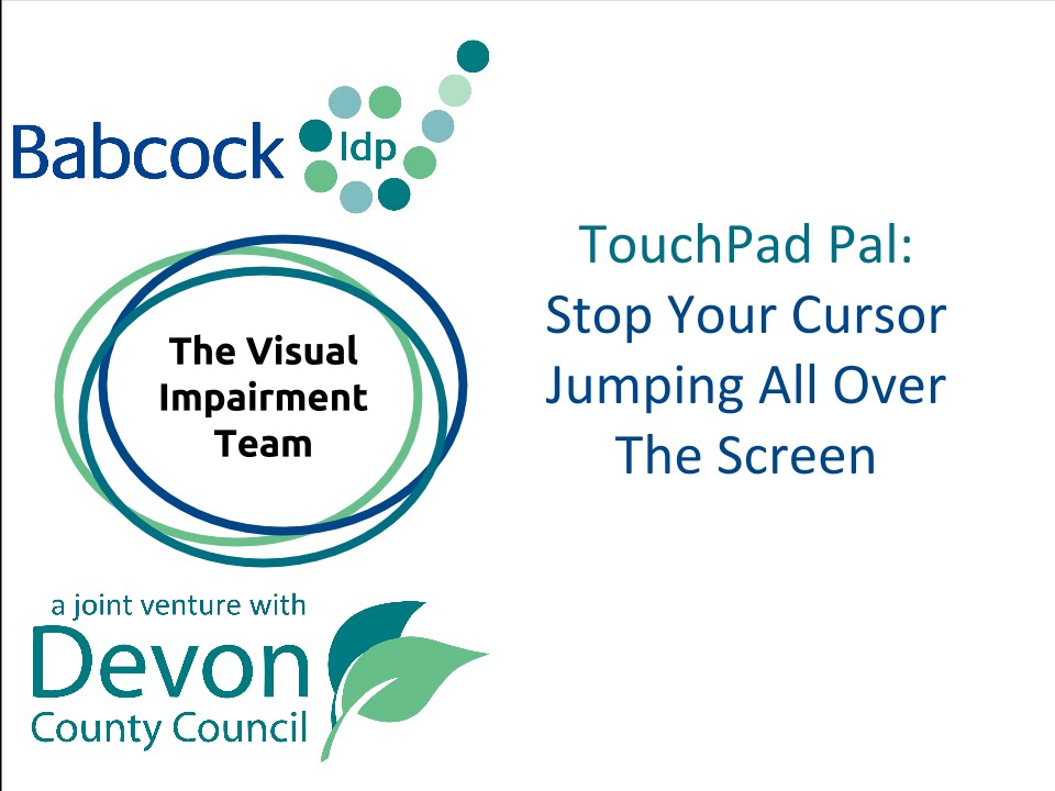 Touchpad Pal- Stop Your Cursor From Jumping Around the Screen