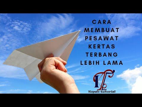 Cara membuat pesawat kertas terbang lebih lama di atas udara | How to quickly make paper planes.