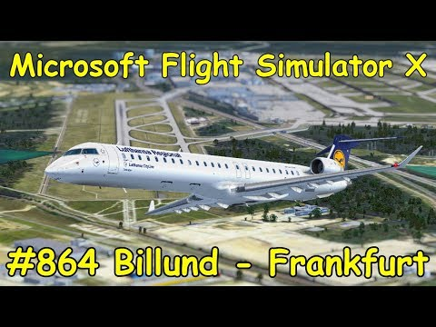 Let's Play Microsoft Flight Simulator X Teil 864 Billund - Frankfurt [2/5] Aerosoft CRJ X Tutorial