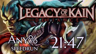 Legacy of Kain: Defiance any% speedrun in 21:47