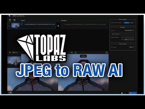 JPEG to RAW AI - Topaz Labs Review