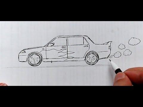 Как нарисовать машинку видео