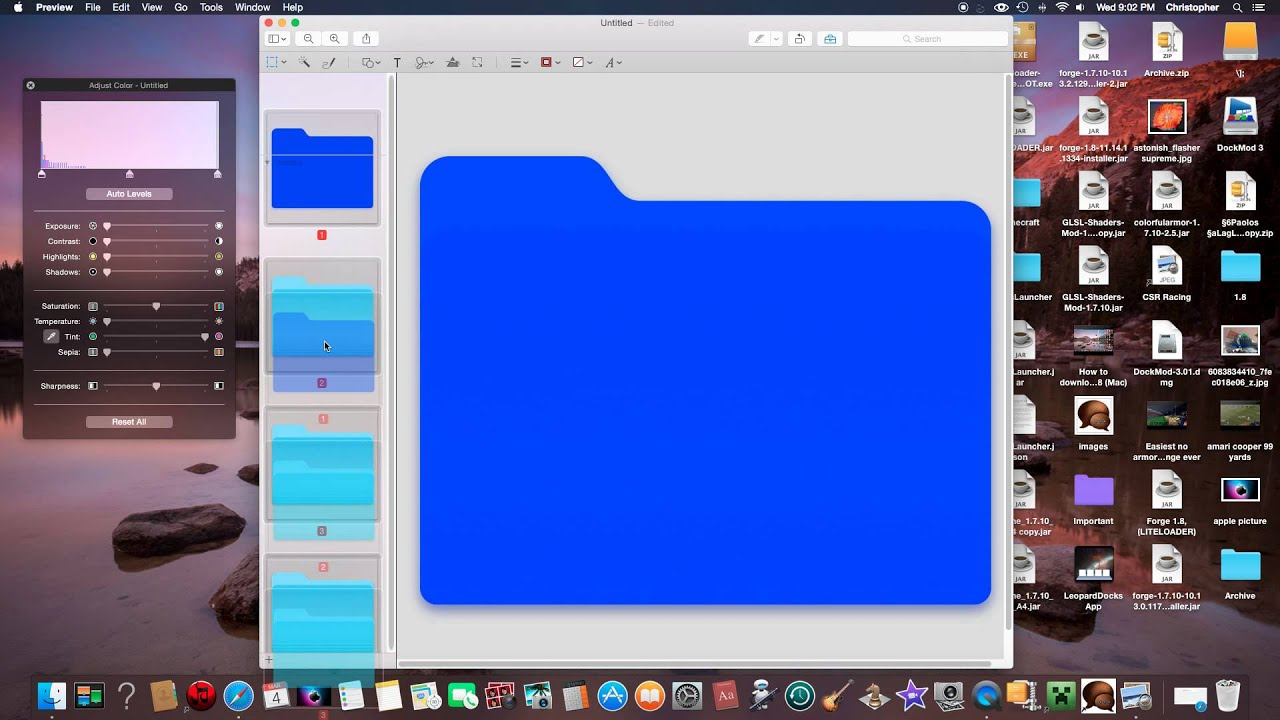  How to change the color of a folder on Mac Yosemite  - YouTube