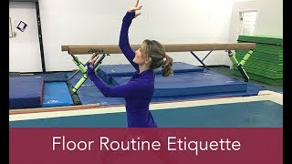 Gymnastics How To: Fl๐or Routine Etiquette