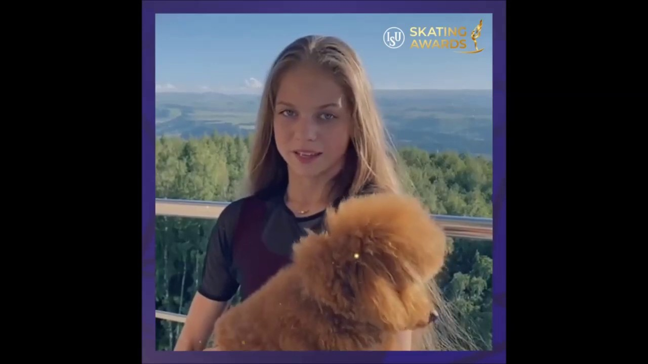 Alexandra Trusova nominated for the ISU Best Newcomer award