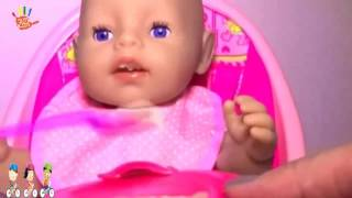 Baby Born Pink High Chair, Baby Doll Furniture, Baby Born Feeding & Diaper Change