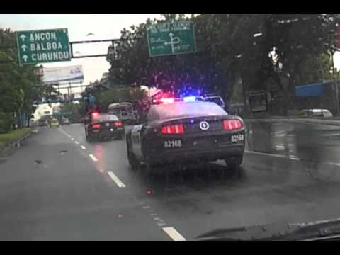 Dubai Police Cars >> Panama Police cars. Mustang GT 2011 - YouTube