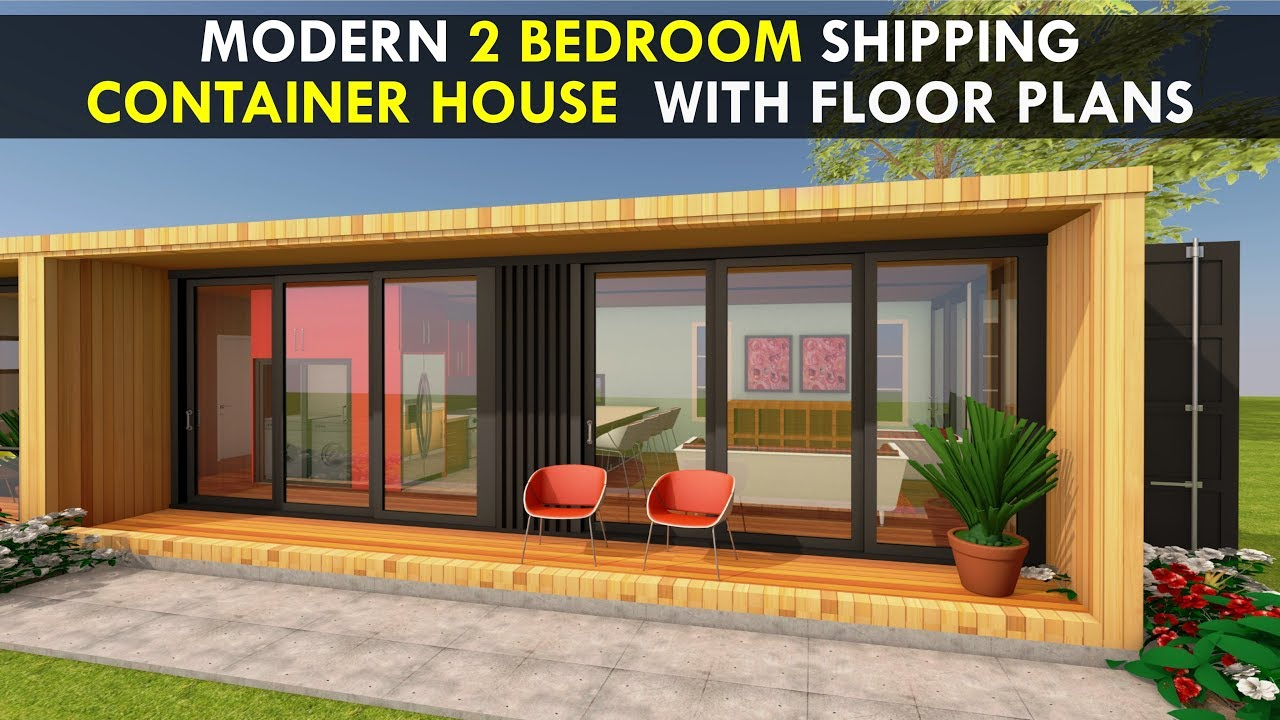 Modular Shipping Container 2 Bedroom Prefab Home Design with Floor on home plans cedar, home plans redwood, home plans construction, home plans electrical, home plans floor,