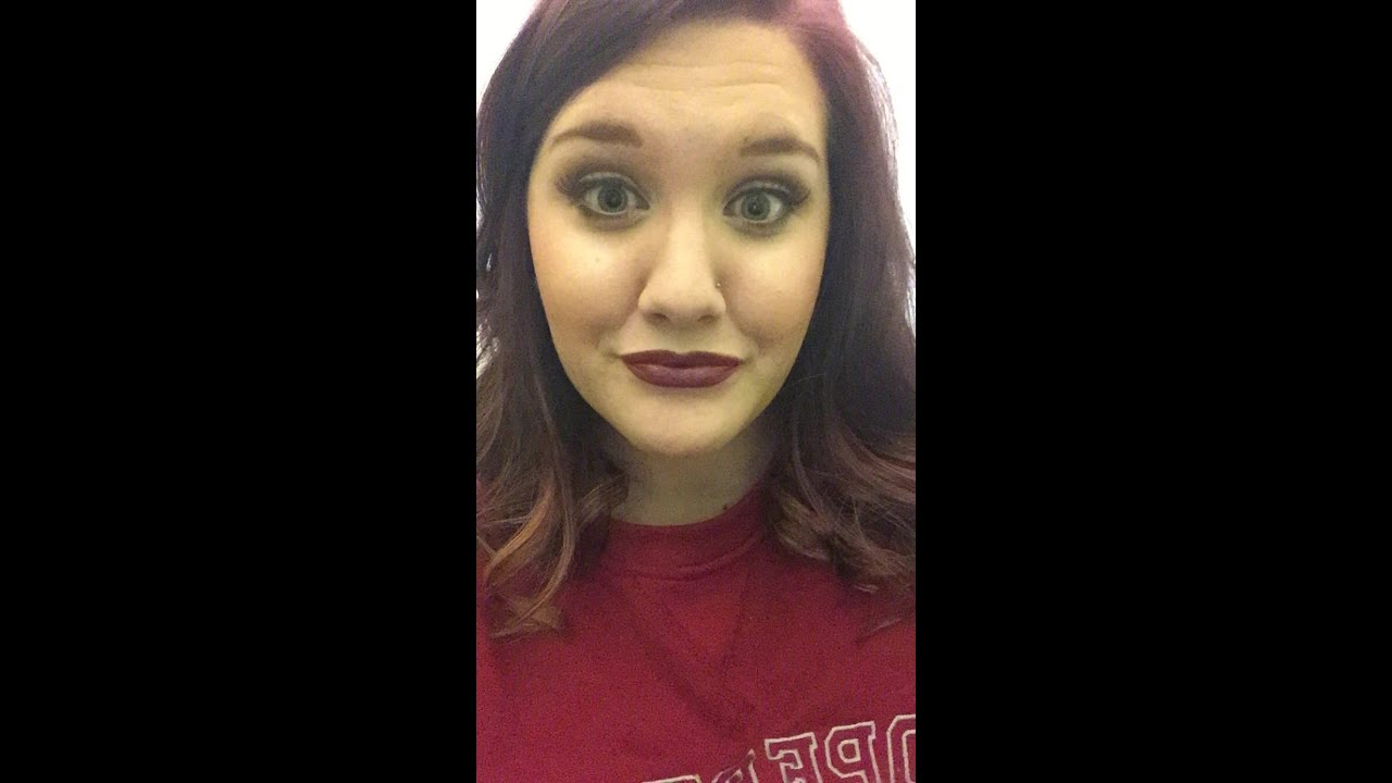 Smokey Eye And Dark Lipstick