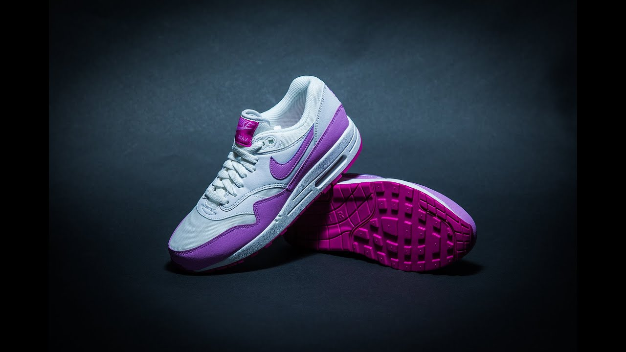 best cheap 1747e db4be WMNS Nike Air Max 1 Essential White Fuchsia Glow Fuchsia Flash