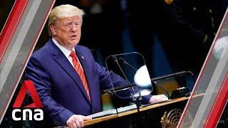 Trump warns China over trade at United Nations General Assembly