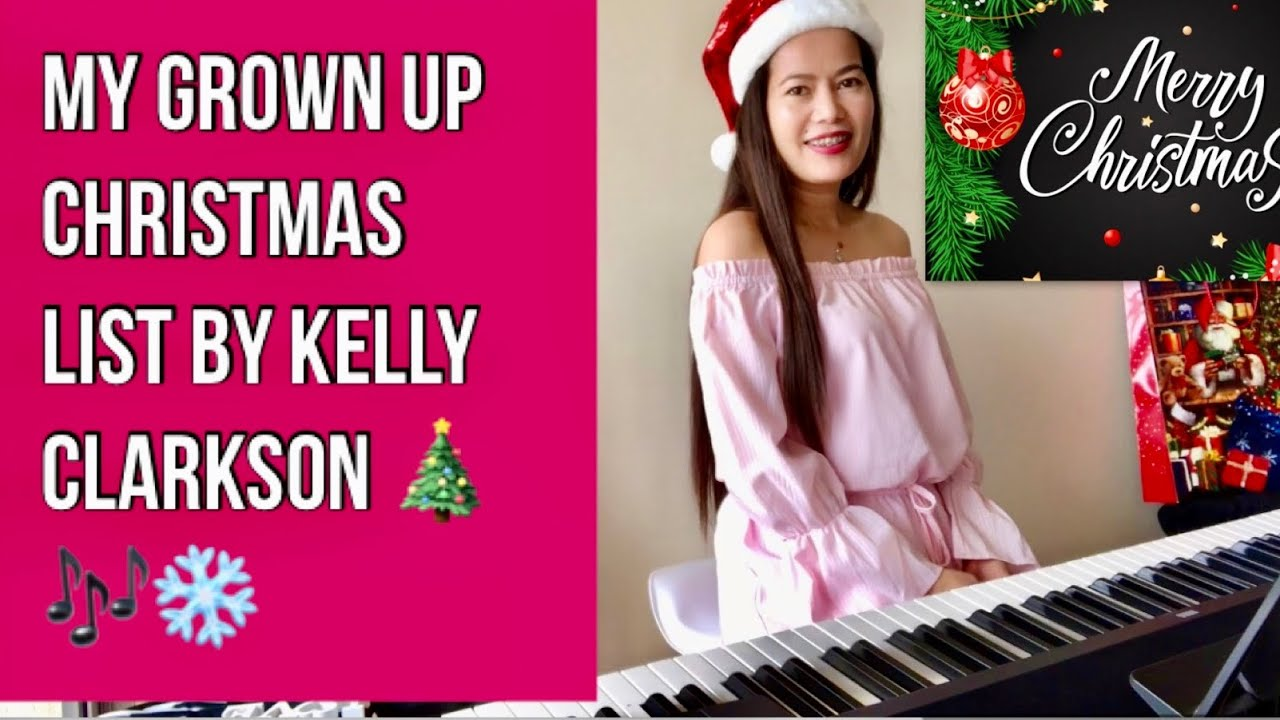 MY GROWN UP CHRISTMAS LIST - Kelly Clarkson Cover by Queen Mia AU - YouTube