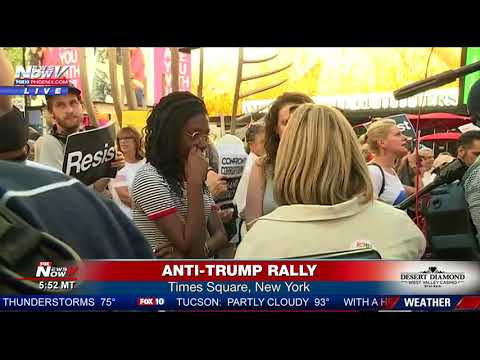 ANTI-TRUMP RALLY: Crowd Packs Times Square In New York City (FNN)