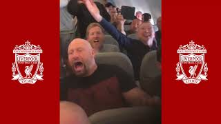 Allez Allez Allez  🎶  🎶  LFC Fans On The Plane (To KIEV 2018) - 23/05/2018
