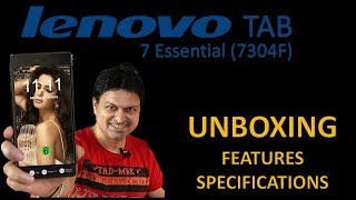 Lenovo 7 Essential TAb 7304F Unboxing Specification Feature and my Fair Opinion