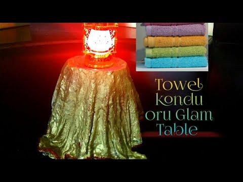 Towel kond easy ayi oru Glam Table | Home Decor |DIY |DejaVu