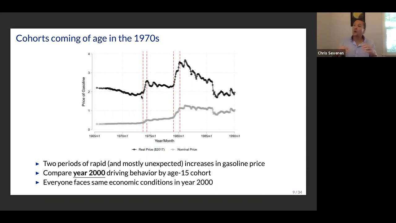 Christopher Severen: Formative Experiences and the Price of Gasoline