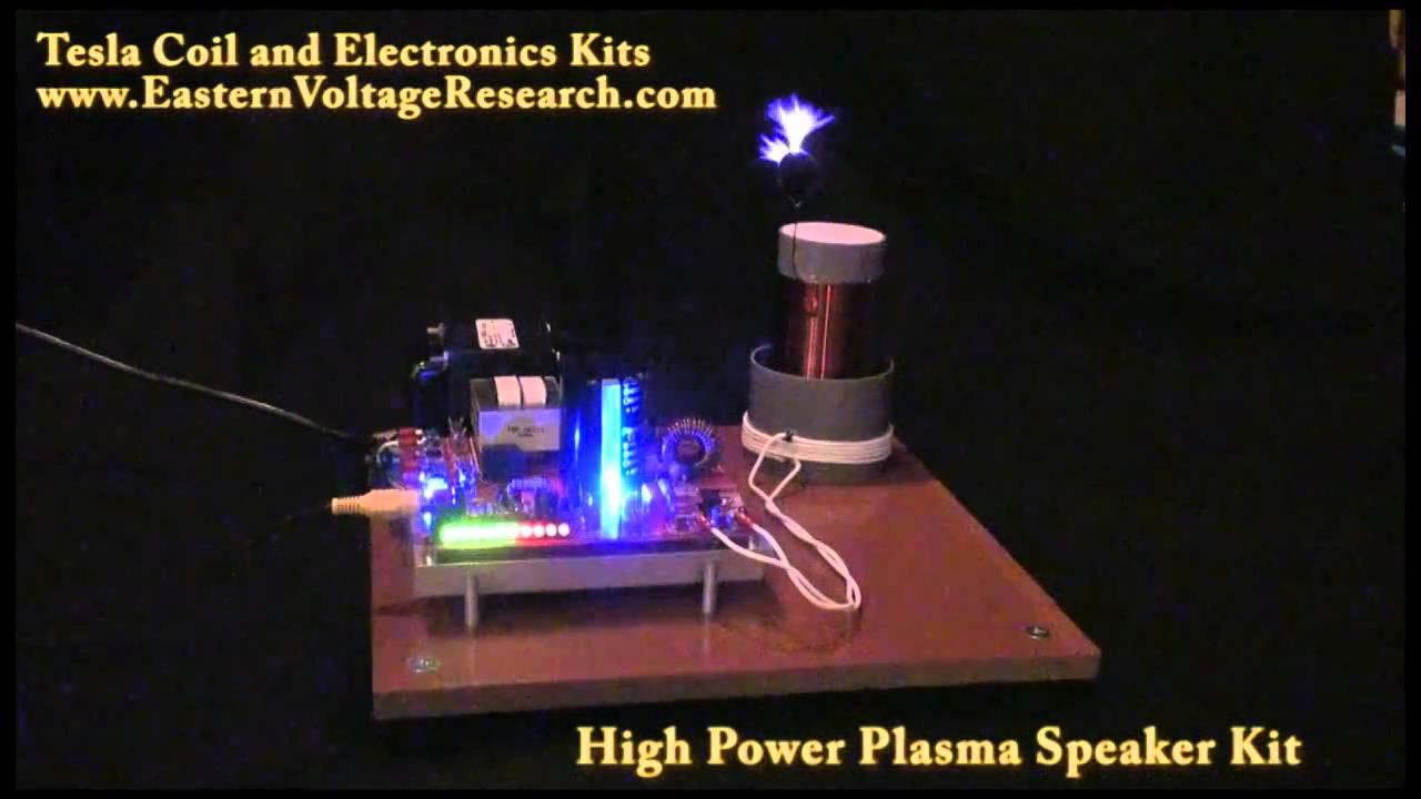 Loudest Plasma Speaker Class E Audio Modulated Tesla