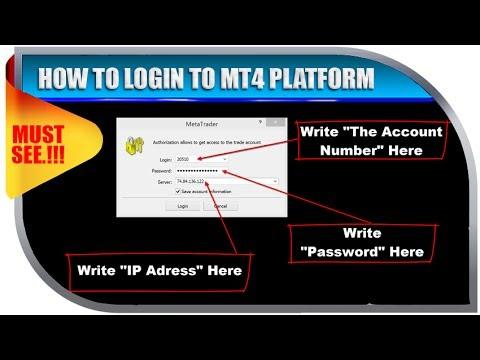 HOW TO LOGIN TO MT4 PLATFORM