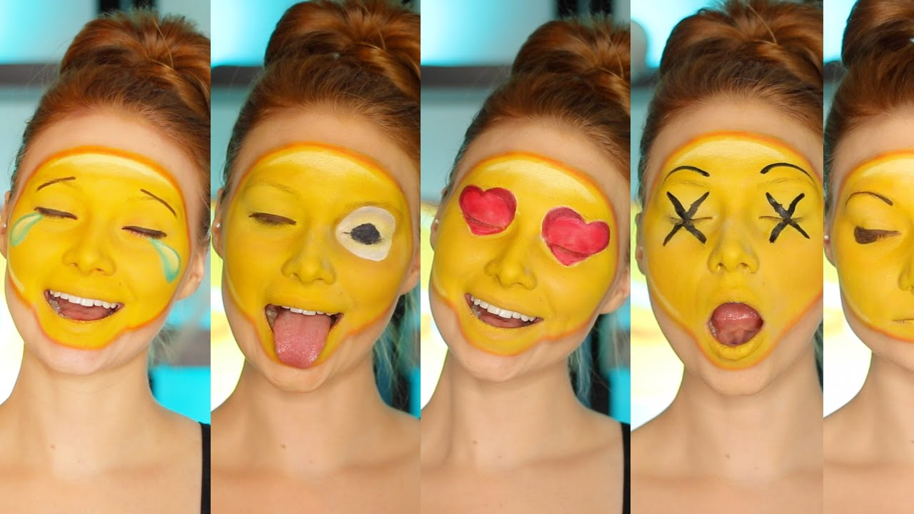 Diy emoji costumemakeup tutorial cc youtube baditri Gallery