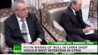 Putin speaks out on foreign Meddlings in Syria and Libya (Feb 8, 2012)
