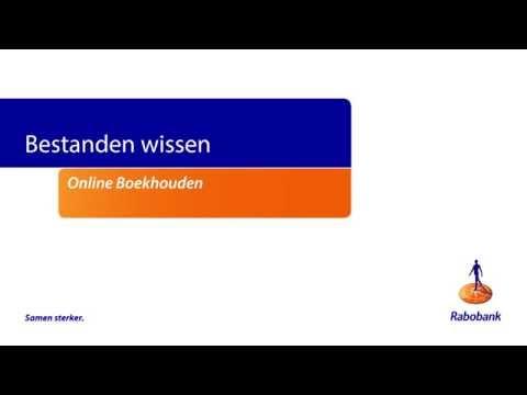 rabo internetbankieren professional online boekhouden bestanden wissen
