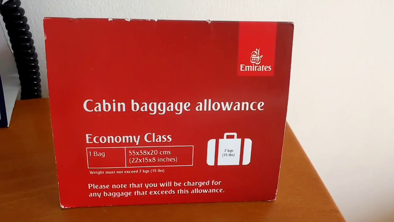 Emirates Airline Cabin Baggage Allowance Economy Class