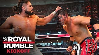 Humberto Carrillo catches Andrade with moonsault attack: Royal Rumble Kickoff 2020 (WWE Network)
