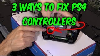 3 WAYS TO FIX PS4 CONTROLLER: Not Working Doesn