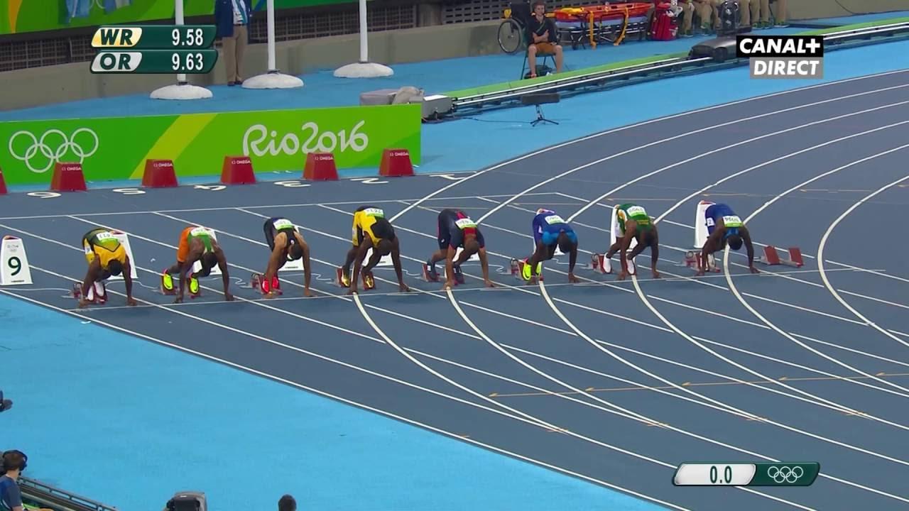 Men's 100m Final - Usain Bolt Wins 9.81s - Rio Olympics ...