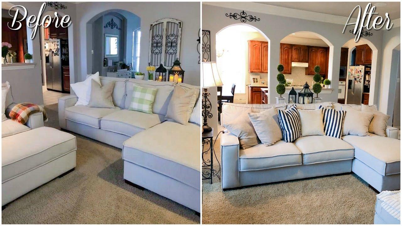 room living makeover farmhouse budget decor
