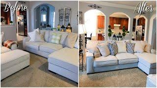 Living Room Makeover On A Budget! Farmhouse Decor 2019